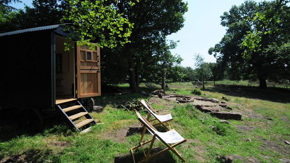 Humble-Hideaway-Shepherd's-Hut-looking-towards-fields